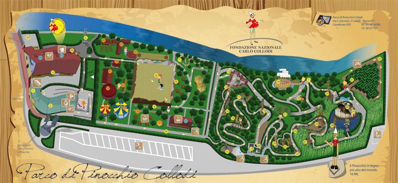 Agriturismo-la-gioconda-Vinci-Firenze-Mappa Parco Pinocchio INT small 1
